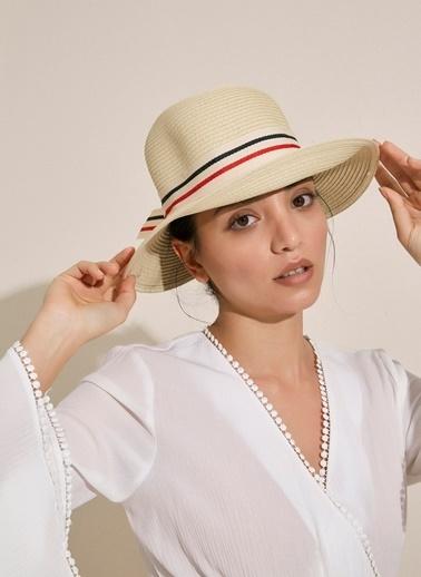 Morhipo Beach Marine Fiyonk Detaylı Hasır Şapka Bej